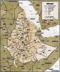 mapa de ETIOPIA Y ERITREA
