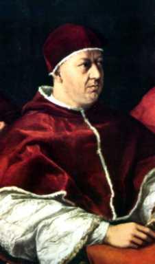 Papa Leon X Ambicion de los Papas