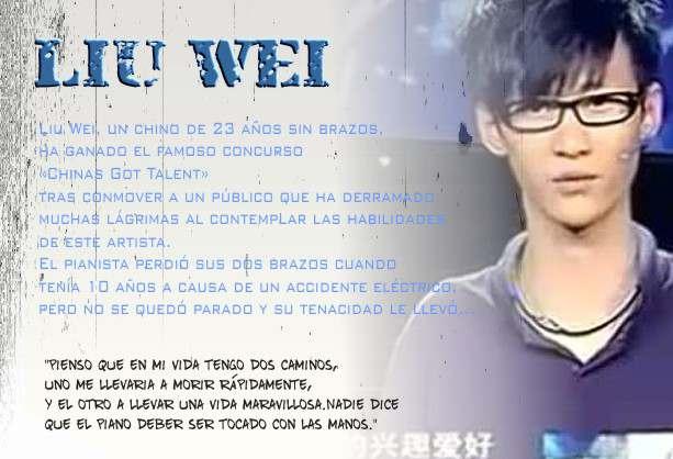 Tocar el piano con los Pies Liu Wei