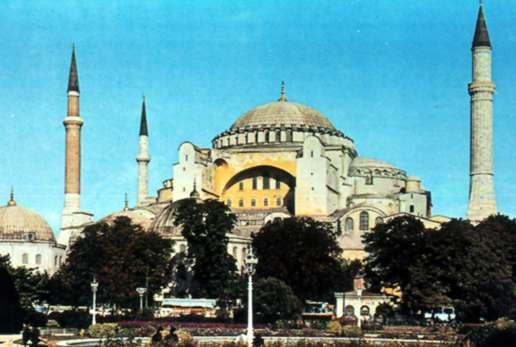 Arquitectura Basílica de Santa Sofía en la actul Estambul