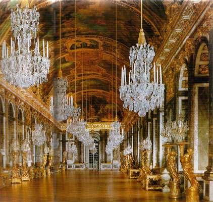 sala de los espejos en Versalles Francia