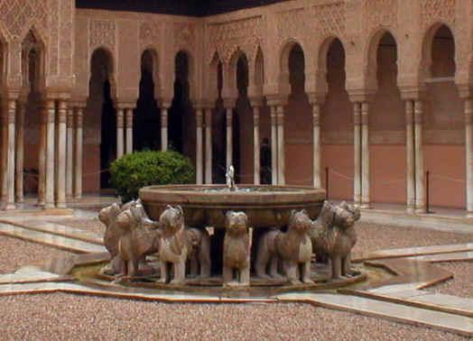 patio de los leones en alhambra