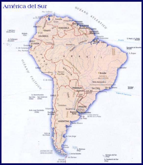 mapa de america del sur