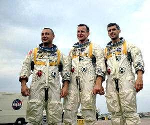 La tripulación de la nave espacial Apolo I