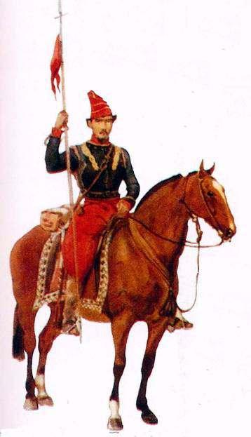 Soldado de Caballería San Luis, acuarela.
