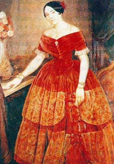 Manuela Rosas de Terrero, óleo, 1851