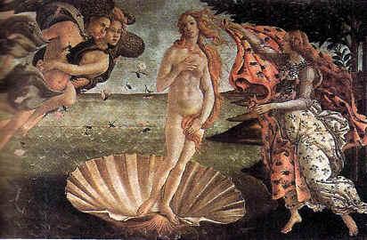 """artistas del renacimiento """"El Nacimiento de Venus"""""""