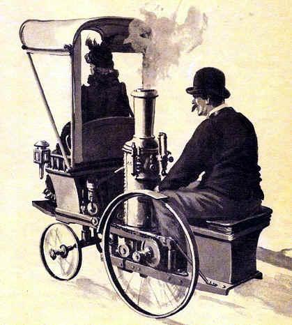 primer coche a vapor