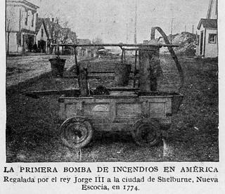 viejo carro autobomba para apagar incendios