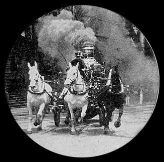 autobomba para apagar incendios a caballos