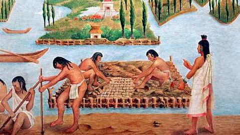 cultivo de los aztecas en chinampas