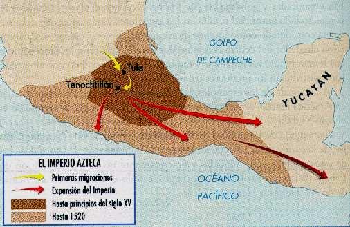 mapa de imperio aztecas