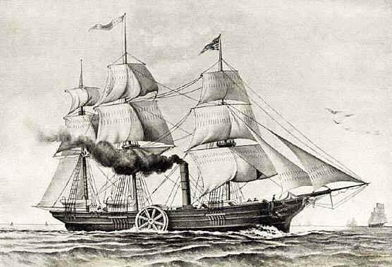 Savannah primer barco de vapor que cruzó el Atlántico