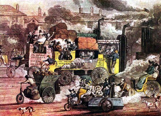 Cuadro pintado en 1828 por Alken, «Vista de Whitechapel Road, 1830».