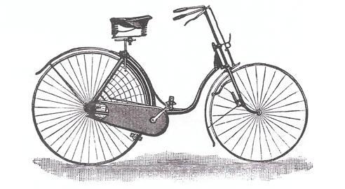 bicicleta principio siglo XX