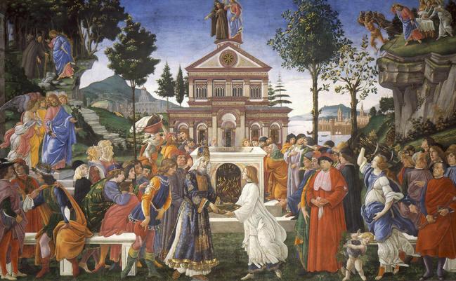 tentaciones de cristo de botticelli