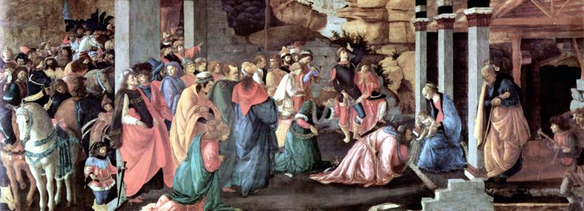 La Adoración de los Magos Botticelli, 1475