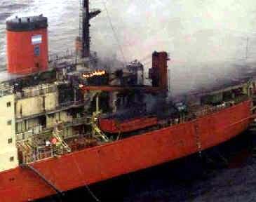 Rompehielos Almirante Irizar, incendio