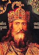 rey de los francos carlomagno