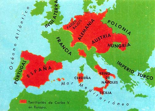 territorios de carlos V