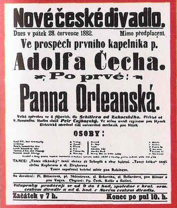 """TchaikovskyAnuncio de la """"Doncella de Orleans"""""""