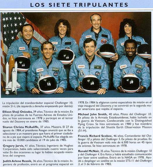 astronautas del challenger