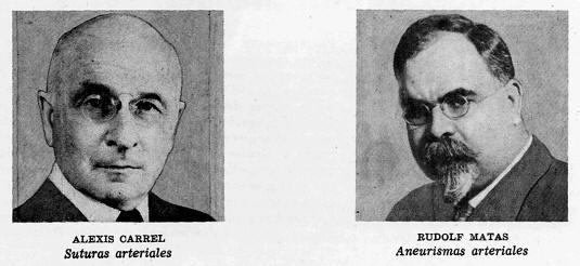 alexis carrel, rudolf mata, primeros medicos cirujanos destacados