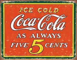 viejo cartel de coca cola