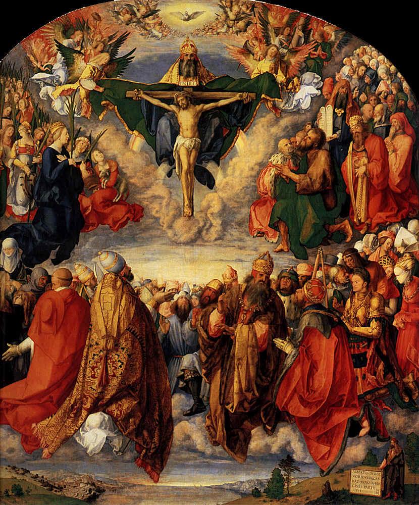 Alberto Durero: Adoración de la Santa Trinidad