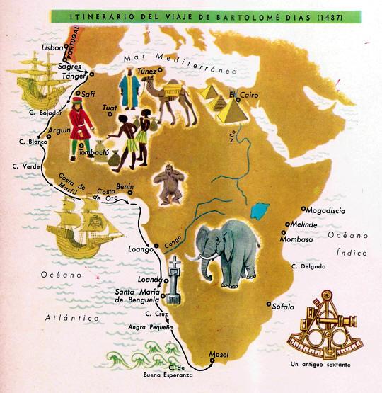 mapa viaje dias bartolome