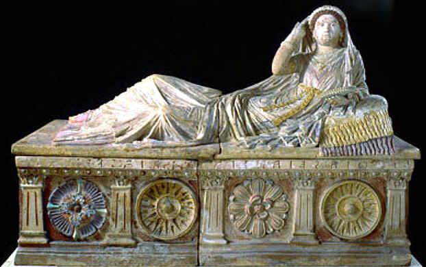 El Arte Etrusco:El Sarcofago de Seianti en Roma Antigua