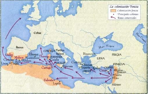 colonizacion fenicia