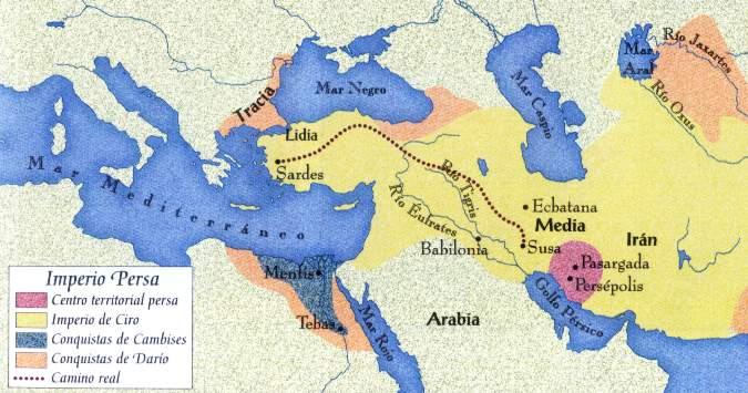 MAPA ubicacion de los persas y los medos