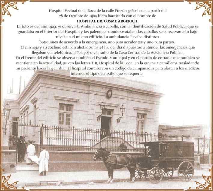 inicios del hospital argerich