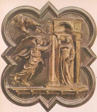 Detalle de la Puerta Norte del Baptisterio Florencia