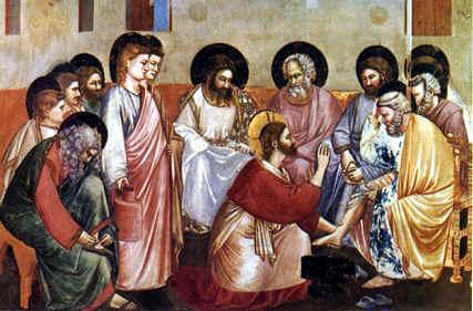 Giotto: El lavatorio de los pies - Padua
