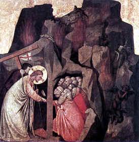 Descenso al Limbo de Giotto di Bondone en 1305