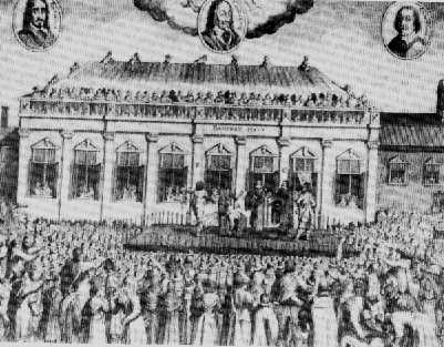 Ejecución del Rey Carlos I en 1649.