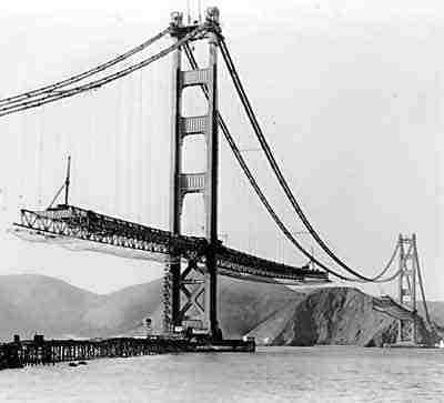 Puente en construccion Golden gate