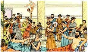 Las cenas en grecia eran una actividad de ocio popular
