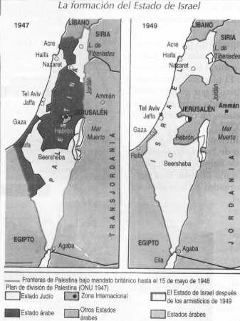 mapa guerra palestina-israeli