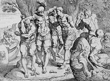 Ulises y los Lotogafos en su Viaje de la Odisea