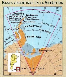 mapa antartida