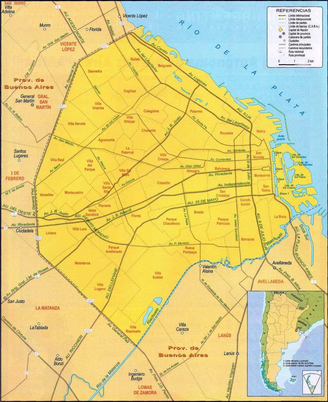 mapa ciudad metropolitana de buenos aires