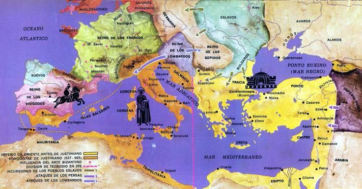 mapa imperio bizantino
