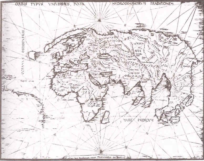 Mapa del Mundo Antes del Descubrimiento de America Exploracion Africa