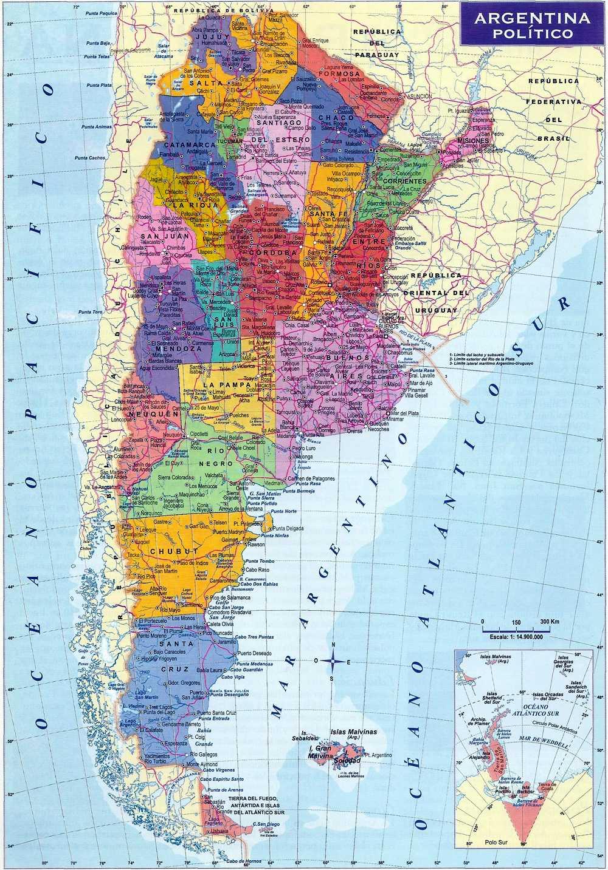 Mapa Politico De Argentina Provincias Y Capitales Republica Argentina - Argentina mapa