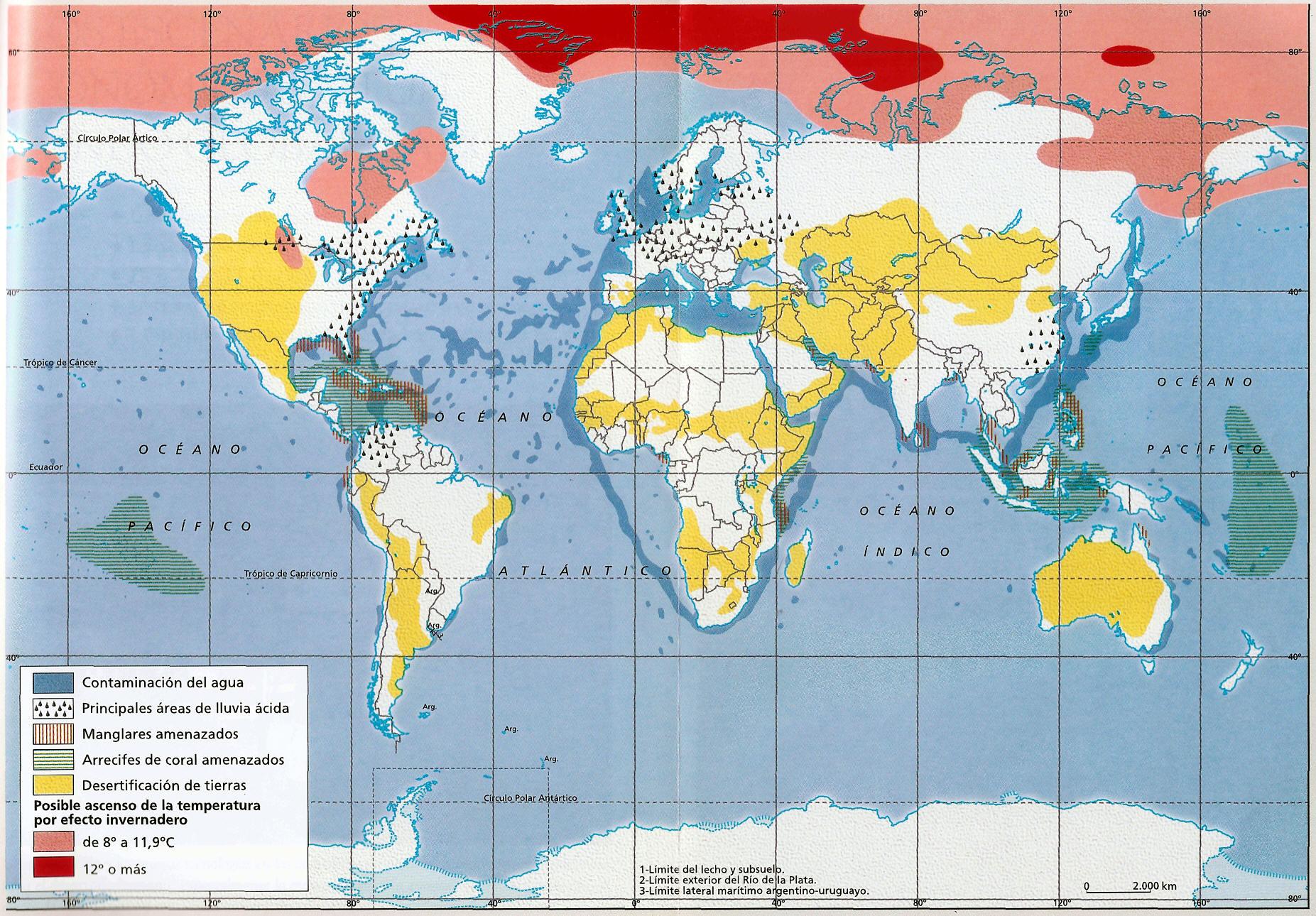 mapa de problemas ambientales