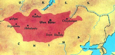 mapa mongoles