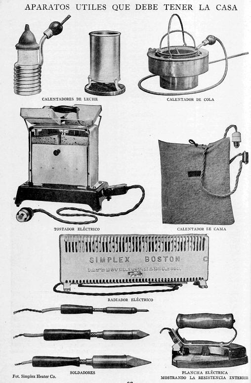 primeros artefactos electicos